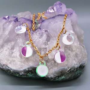 Moonbeam Necklace Iridescent Moon Phase Jewellery