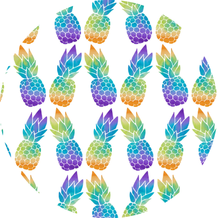 Luna Lotus Print Design Pineapples