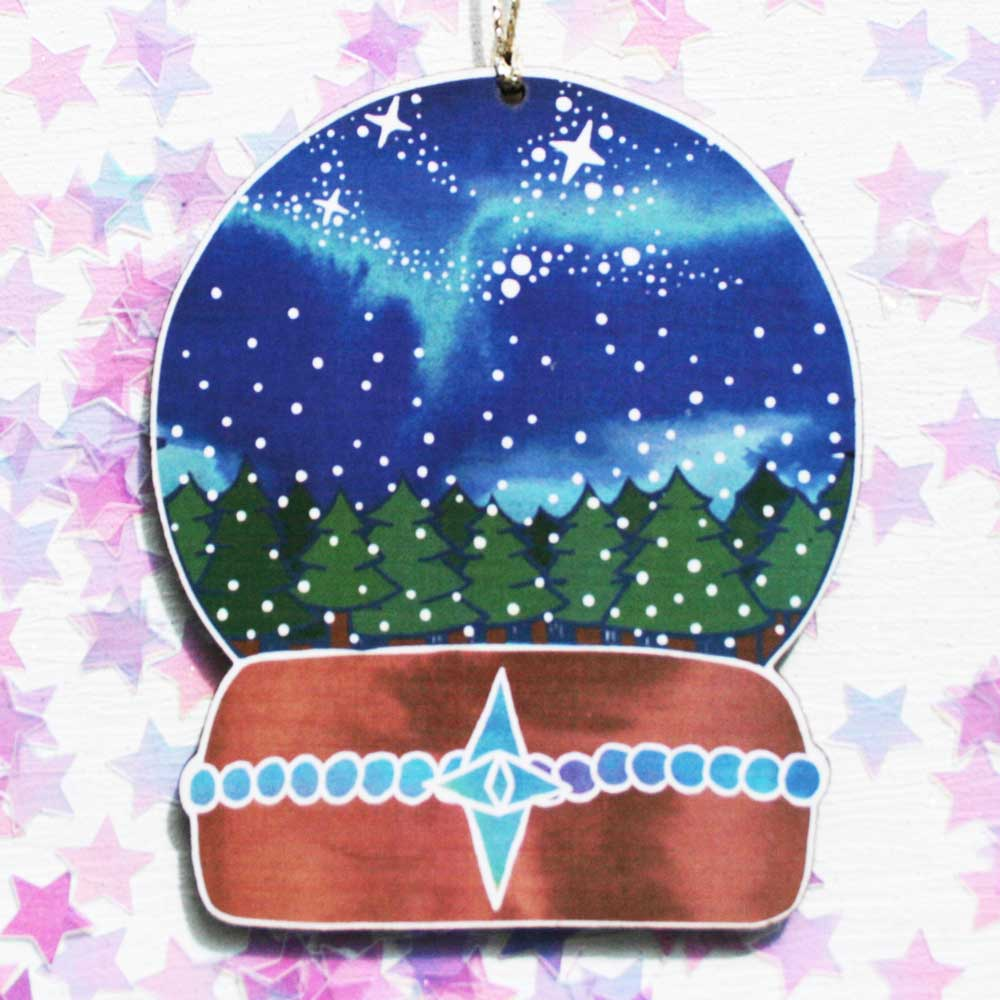 Aurora Snow Globe Christmas Decoration Luna Lotus