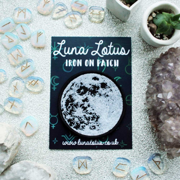 Glow in the Dark Moon Iron on Patch