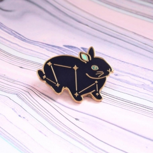 Space Bunny Hard Enamel Pin Constellation