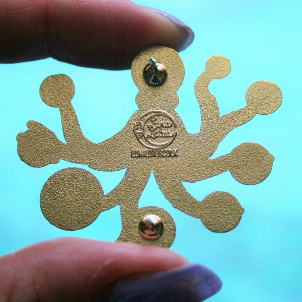Space Octopus Hard Enamel Pin