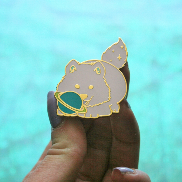 Space Puppy Hard Enamel Pin