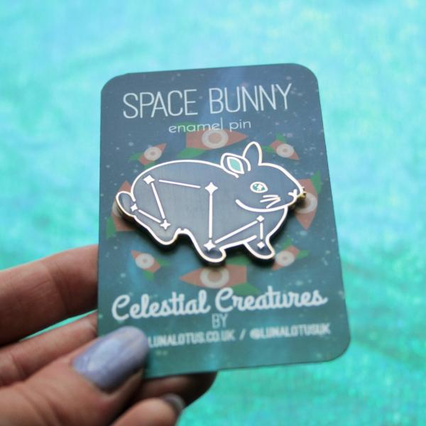 Space Bunny Hard Enamel Pin