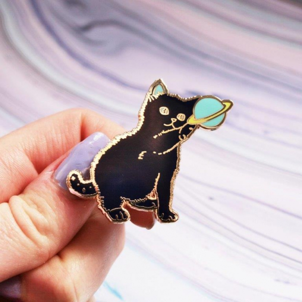 Space Kitten Hard Enamel Pin
