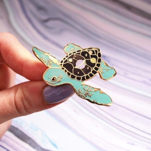 Space Turtle Hard Enamel Pin Cosmic Planets