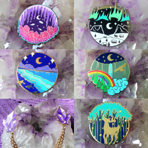 Natural Phenomena Enamel Pin Collection