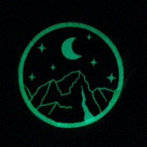 Mythic Mountain Glow in the dark woven patch