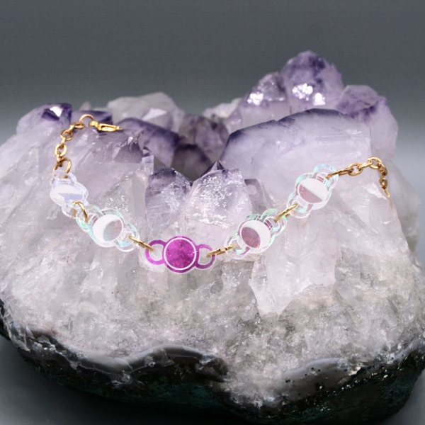 Moonbeam Bracelet Iridescent Moon Phase Jewellery