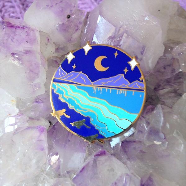 Bio Luminescence Baby Turtle Pin