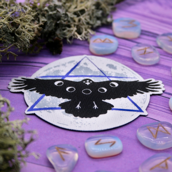 Crow Moon Iron On Patch