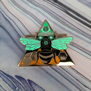 Bee Air Elemental Pin