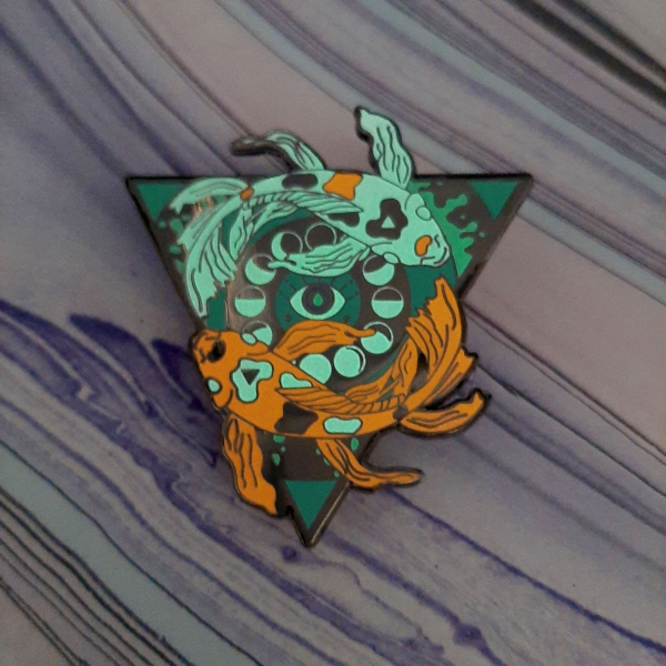 Koi Water Elemental Pin