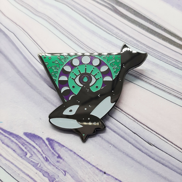 Orca Water Elemental Pin