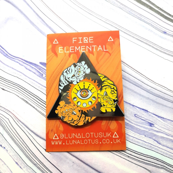 Tiger Fire Elemental Pin
