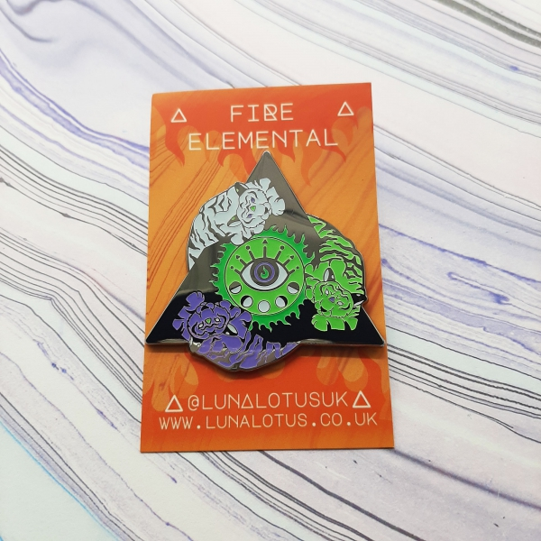Tiger Fire Elemental Pin Cosmic Edition