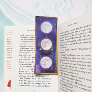 Moon Phase Gold Bookmark