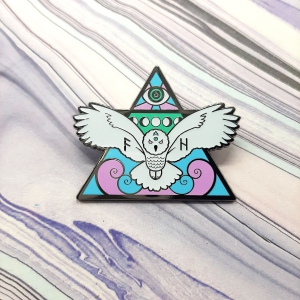 Owl Air Elemental Pin