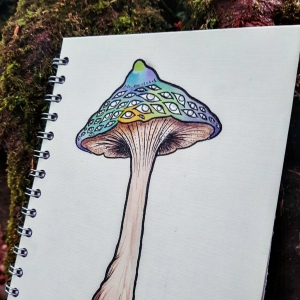 Luna Lotus Custom Illustrated A5 Journal Sketchbook Notebook