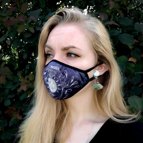 Luna Lotus Koi Face Mask