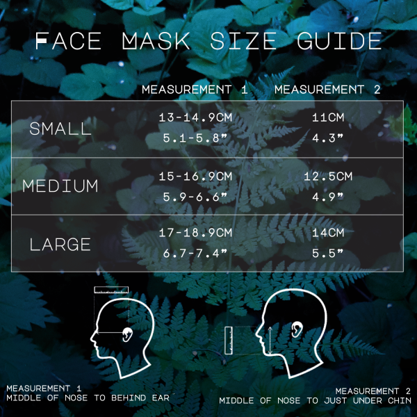 Luna Lotus Face Mask Sizing Guide